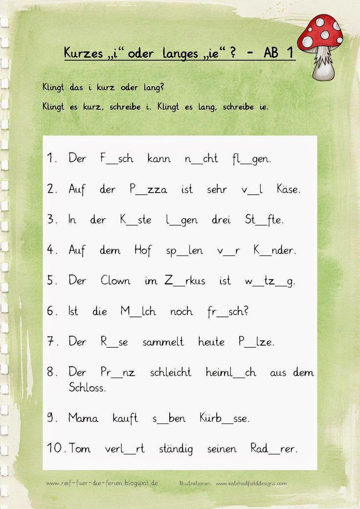 76 best deutsch images on Pinterest | Deutsch lernen, Arbeitsblätter ...