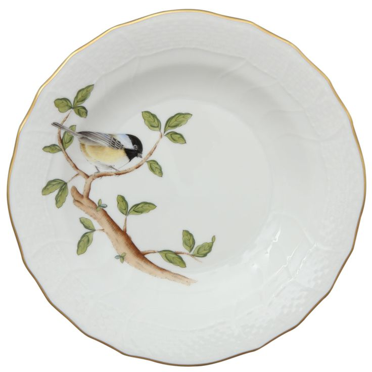 Herend Songbird Dessert Plate