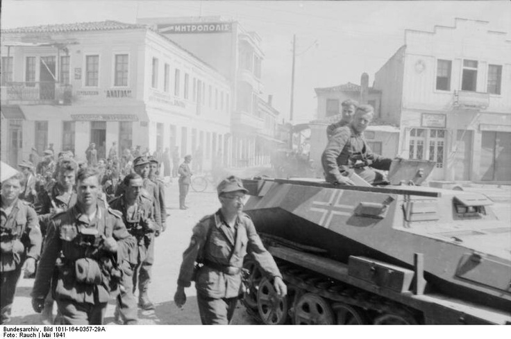 Nazi entering Athens, Greece in 1941