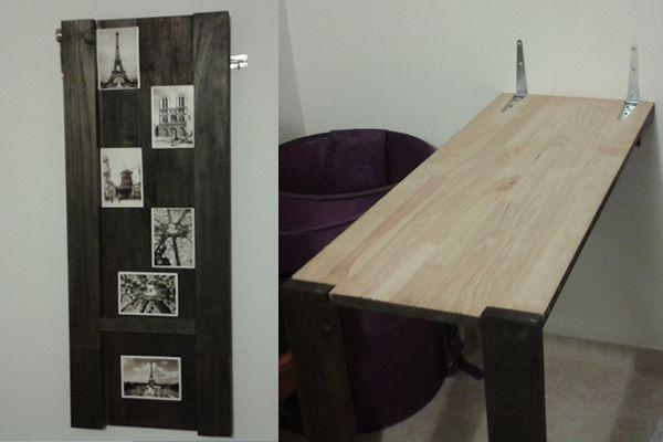 Cuadro que se convierte en mesa para planchar. Ideas para ahorrar espacio.