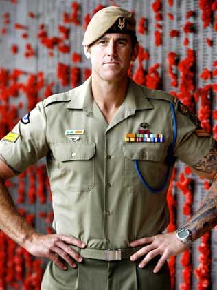 Corporal Benjamin Roberts-Smith VC, awarded the Victoria Cross, Australia's highest military honour, for his service in Afghanistan. On 11 June 2010, as part of a Special Operations Task Group, Cpl Roberts-Smith exposed his own position to draw fire away from his patrol, storming the enemy position, allowing his patrol to lift the weight of fire from other Australian troops.