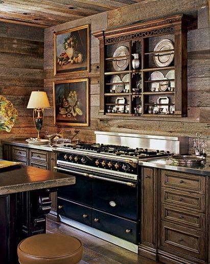 great modern/vintage mix of a kitchen