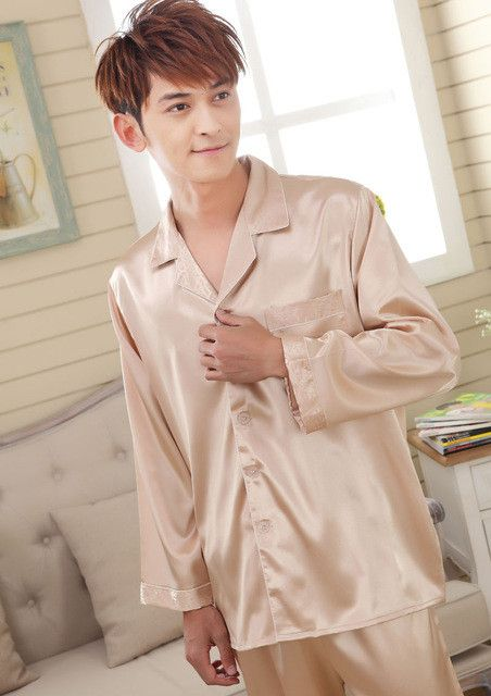 be24e0f8da Faux silk men sleepwear mens pajamas men sleep lounge male jpg 452x640 Pyjamas  men chinese