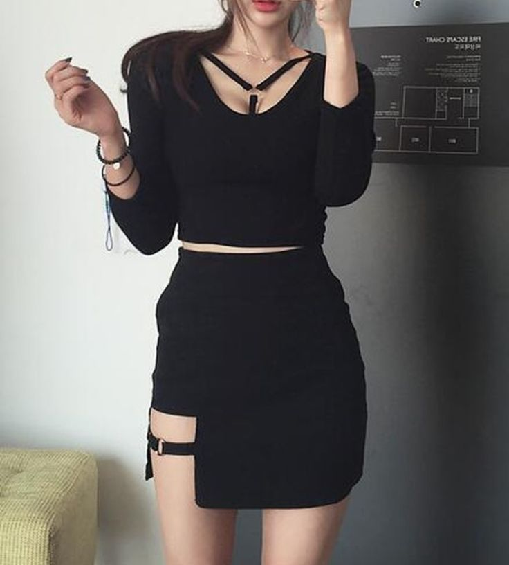 Black aesthetic outfit