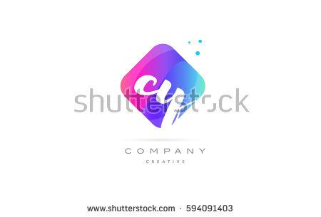 cy c y  pink blue rhombus abstract 3d alphabet company letter text logo hand writting written design vector icon template