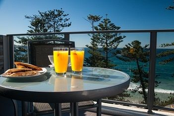 Spend a lovely lunch on your balcony here at The Sebel Manly Beach!