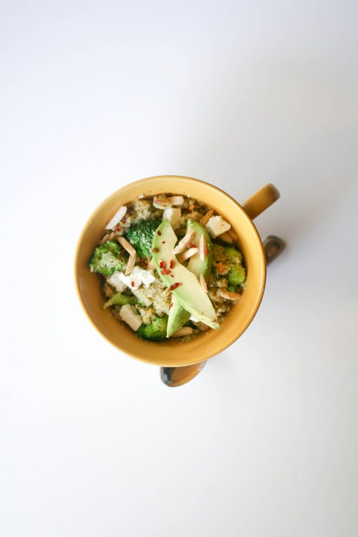 Quinoa Salad with Broccoli Pesto, Feta Cheese, Slivered Almonds and ...