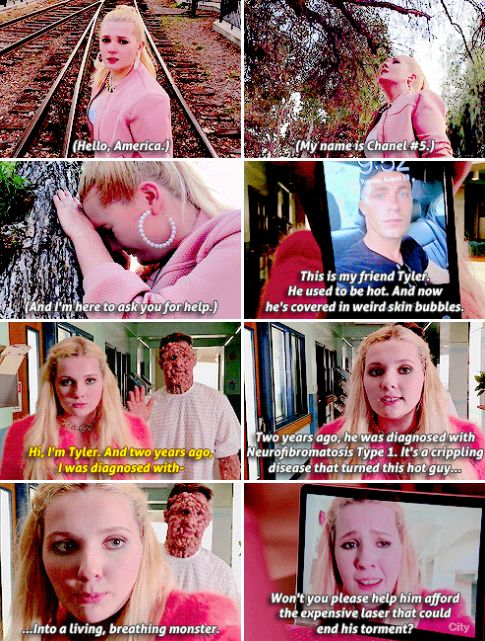 """Chanel #5 in Scream Queens 2x02 """"Warts and All"""" hahaha"""