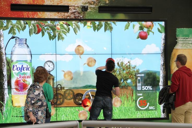'Volvic Juiced' on our digital showcase media format at Bluewater  #malladvertising #digital #screen #DOOH #OOH #volvic #interactiveadvertising