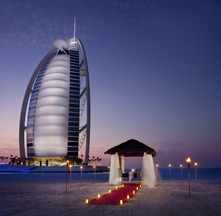 Jumeirah beach hotel romantic beach dining jumeirah for Dubai hotels near beach