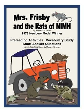 essay questions for mrs. frisby and the rats of nimh Need students to write about mrs frisby and the rats of nimh we've got  discussion and essay questions designed by master teachers.