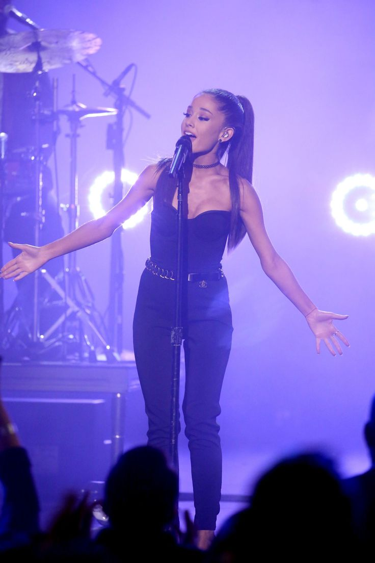 THE TONIGHT SHOW STARRING JIMMY FALLON -- 'Super Bowl XLIX' -- Pictured: Musical guest Ariana Grande... - NBC via Getty Images