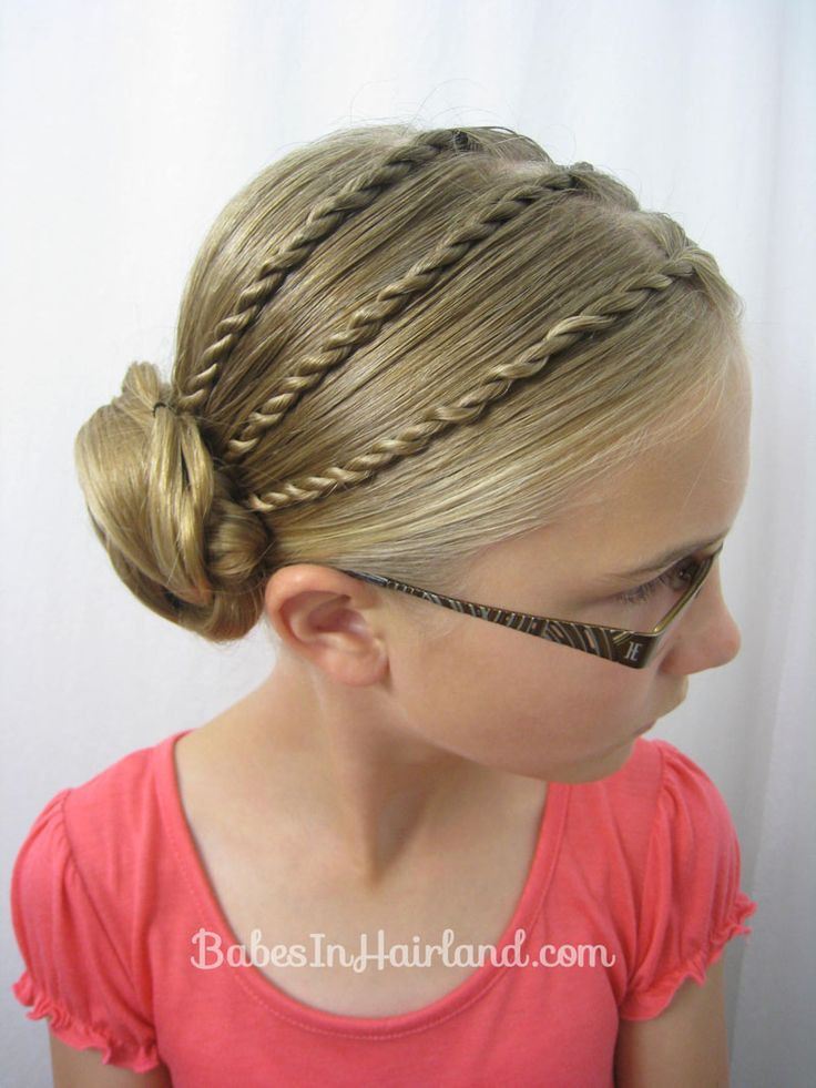 Triple Twists and a Bun   Back-to-School Hair from BabesInHairland.com #twists #hairstyle #bun