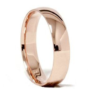 Rose Gold Men's wedding ring... 14K Rose Gold 5MM Wedding Band Ring Sizes 412 by Pompeii3 on Etsy, $219.00