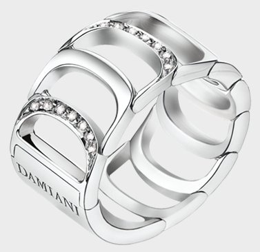 Damiani- Damianissima -web-May.2013,WHITE GOLD AND DIAMOND (ct 0.17) RING