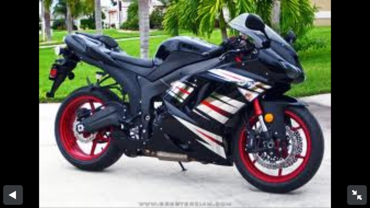 The new beautiful Kawasaki Zx-6R special edition! I only wish I could ride this monster!
