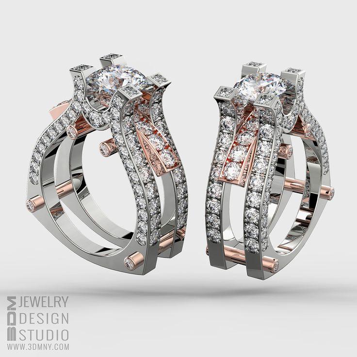 Custom Designed Engagement Ring / 3D CAD Modeling & 3D