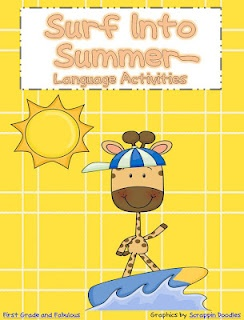 Free!! Surf into Summer!! Language activities!