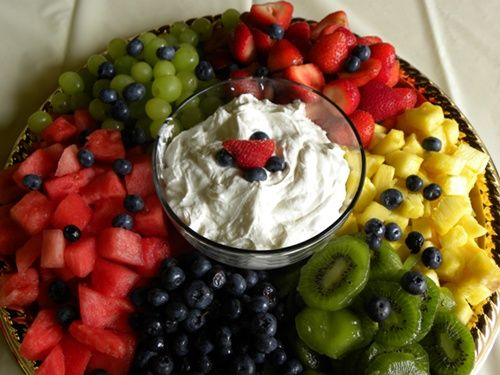 Centerpieces Made Of Fruit | idea for a fruity wedding centerpiece. Guests can grab their own fruit ...