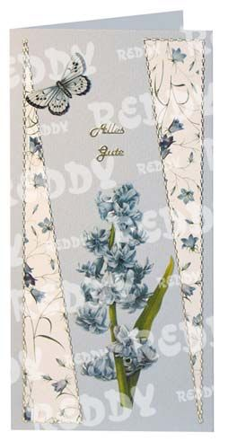 3D-Die-Cuts Flowers, Size A4, Hyacinth and Bellflower in blue-82103