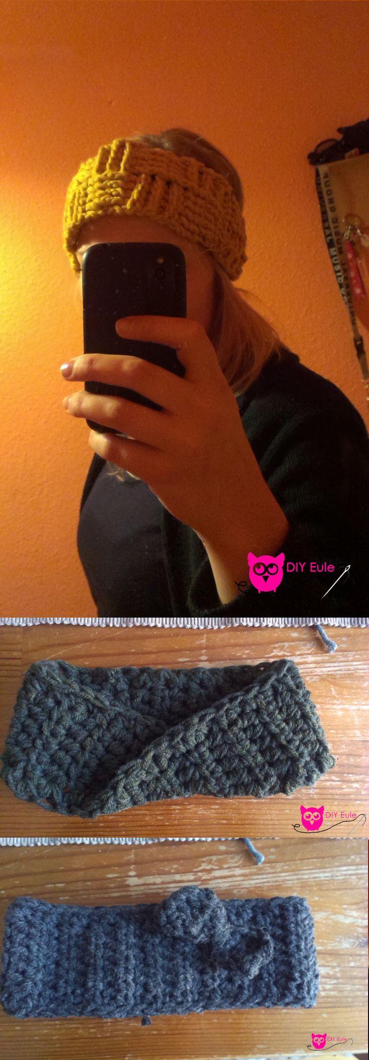 https://www.facebook.com/DIYeule Das sind ein paar boshi Stirnbänder. Die gehen so schön schnell! #myboshi #boshi #haekeln #Stirnband #DIY #DIYEule #Wolle