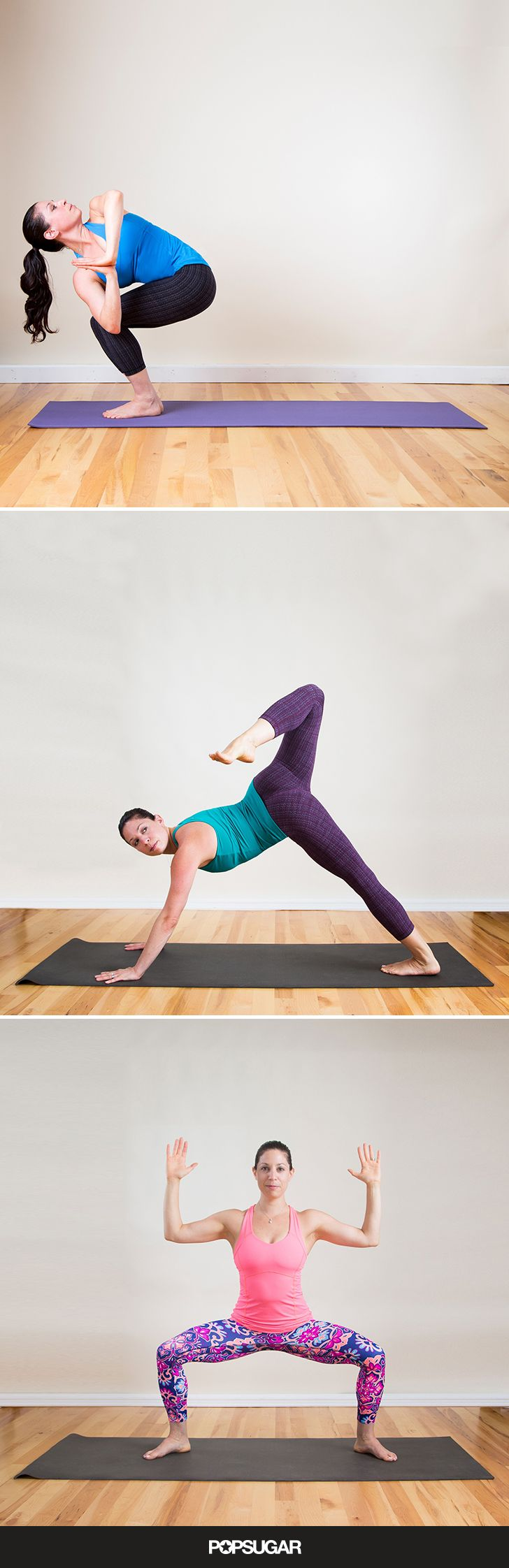 Flow through these 9 postures at home if you don't have time to hit the yoga studio for a full class.
