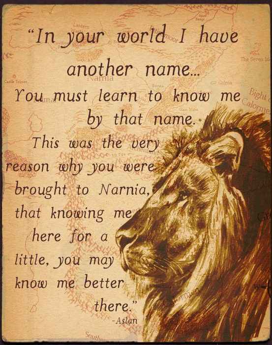 Love This Quote Aslan Jesus