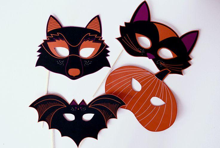 die 25 besten halloween masken basteln vorlagen ideen auf pinterest. Black Bedroom Furniture Sets. Home Design Ideas