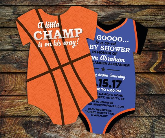10 Basketball Baby Shower Invitations all by LittleBeesGraphics