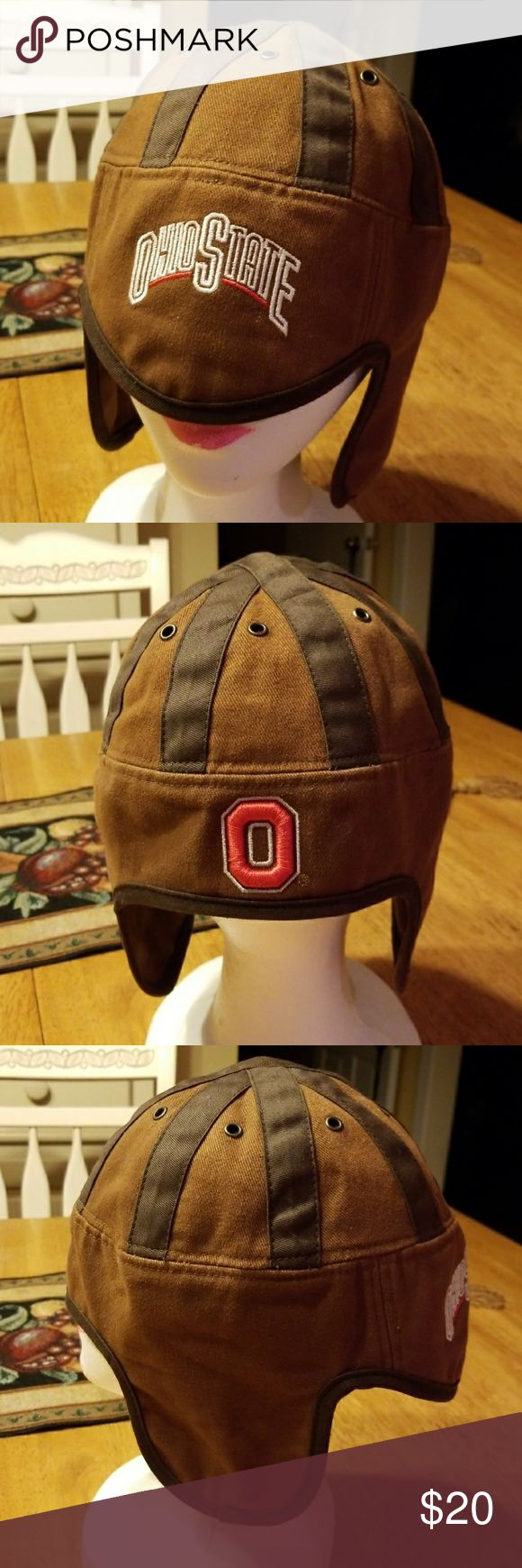 Ohio State Buckeyes Throwback Cloth Helmet Hat Cap This Piece has been displayed and not worn NWOT   Collegiate Licensed Ohio State Buckeyes Cloth Retro Throwback Football Helmet Hat Cap   Show Your Buckeye Pride !!!  Be Sure To Check Out The Rest of My Listings For Additional College and NFL Items for men women and kids. Baltimore Ravens Washington REDSKINS University of Maryland   ✔ BUNDLE UP FOR SAVINGS  ✔ Ohio State Accessories Hats
