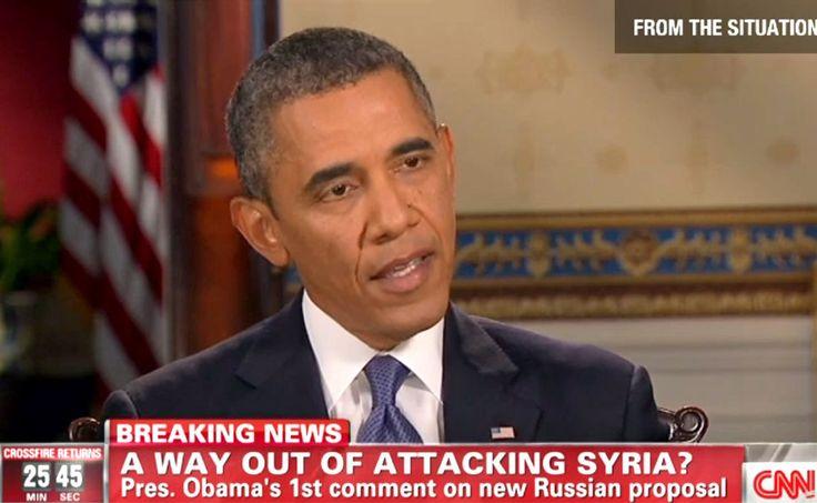 Tagesanzeiger.ch/Ausland/  «Wenn wir ohne Militärschlag auskommen ...»     Präsident Barack Obama reagierte in einer Interviewserie auf den überraschenden Vorschlag der Russen zur Chemiewaffen-Kontrolle. http://www.tagesanzeiger.ch/ausland/naher-osten-und-afrika/Wenn-wir-ohne-Militaerschlag-auskommen-/story/14228189