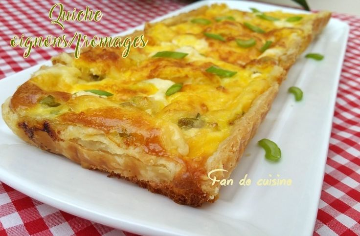 Quiche oignons/fromages