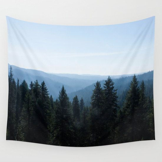 Tree Lined Valley Tapestry