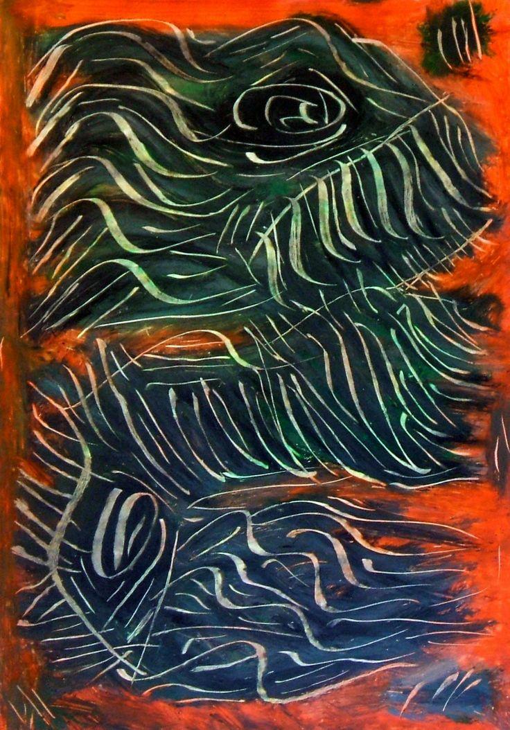"""""""Ectoplasma"""" 2012 Tecnica mista su cartoncino 33x23 ©Pietro Gargano"""