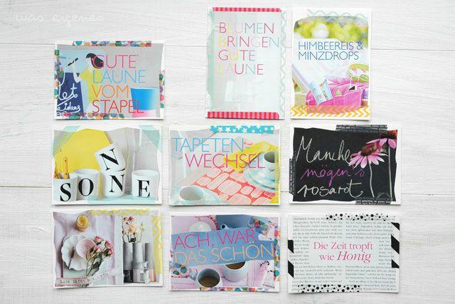 DIY Postkarten living at home was eigenes blog
