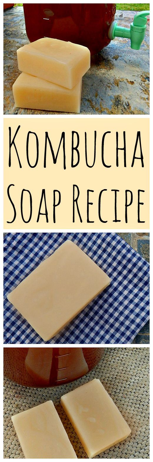 Kombucha is also great for the skin! Get the recipe for this kombucha soap natural face bar!