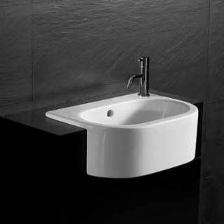 Check out the Bissonnet 22120 Form Semi-Recessed Ceramic Sink with Overflow priced at $400.00 at Homeclick.com.