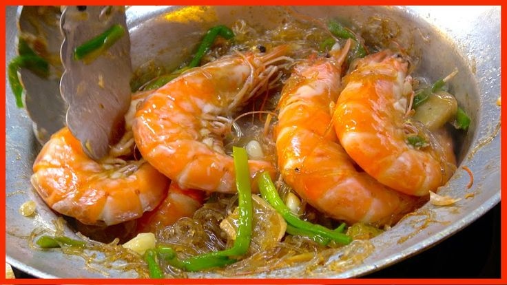 Take Away - Casseroled Shrimp King Prawns Glass Noodle | Street Food