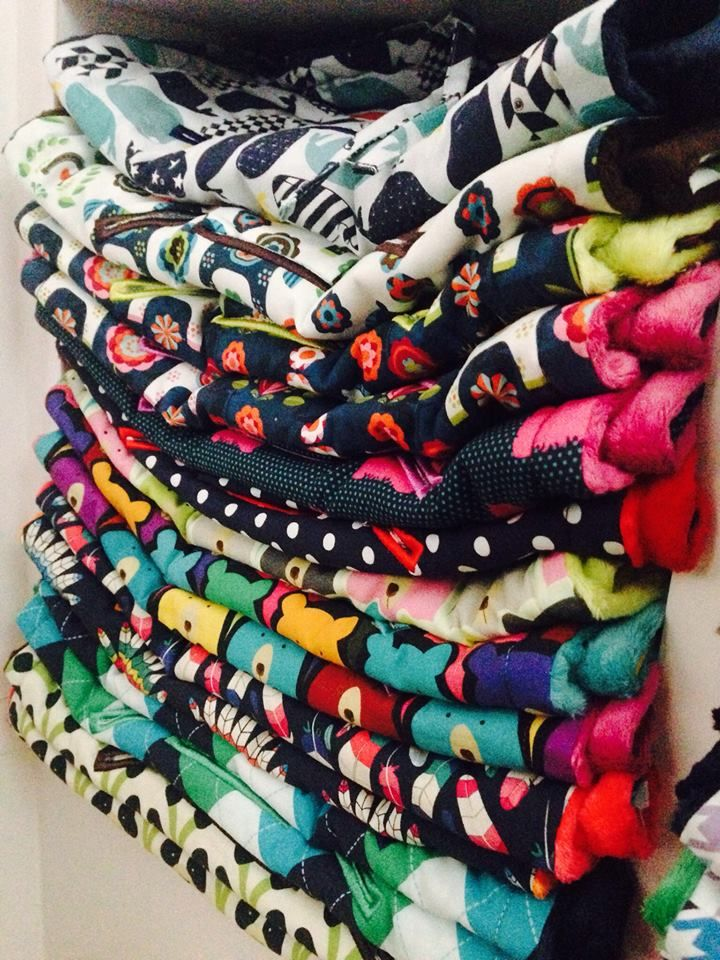 Funky colored blankets