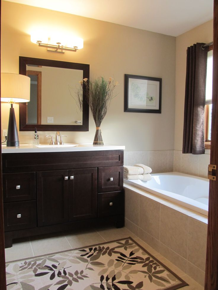 17 best ideas about brown bathroom on pinterest diy for Brown bathroom ideas