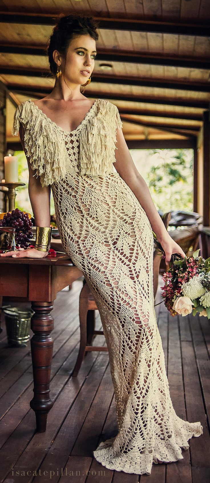 handmade crochet dress by IsaCatepillan on Etsy