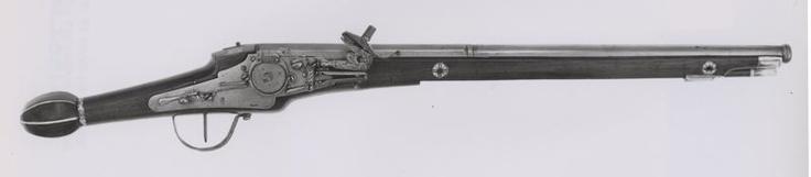 German, Augsburg    Wheellock Holster Pistol, early 17th century    Wood, ivory  - Art Institute of Chicago
