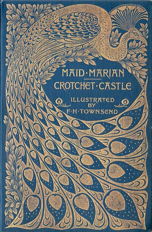 michaelmoonsbookshop:  beautiful peacock design art nouveau book cover art nouveau