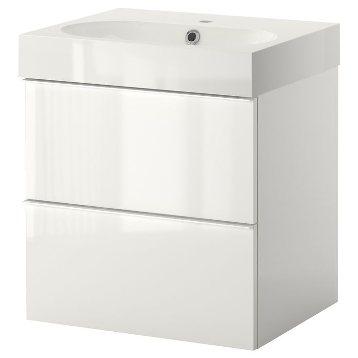Ikea Ludwigsburg Kinderzimmer ~ GODMORGON BRÅVIKEN Sink cabinet with 2 drawers  high gloss white 23
