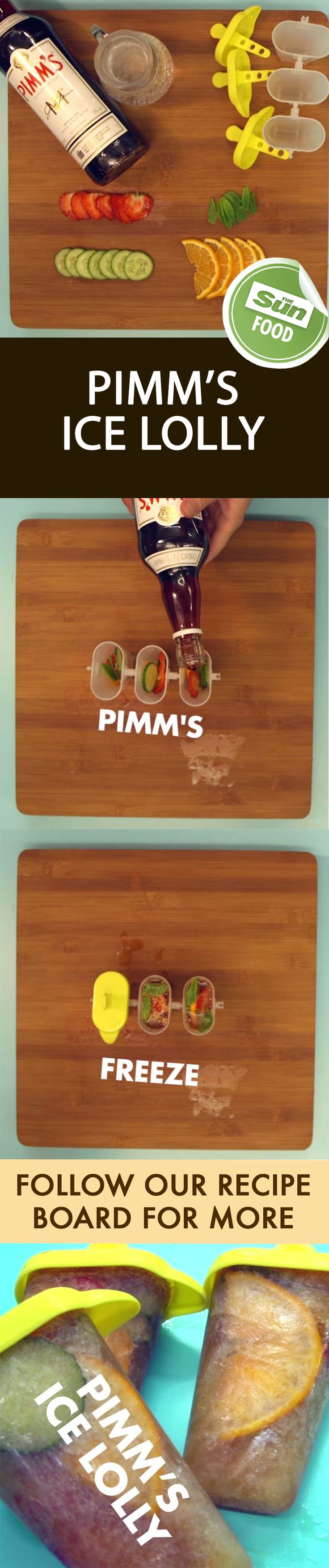 Cool off with these Pimms ice lollies - Just for adults!