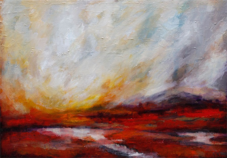 Untitled landscape by Laura Mulligan - PAINTING