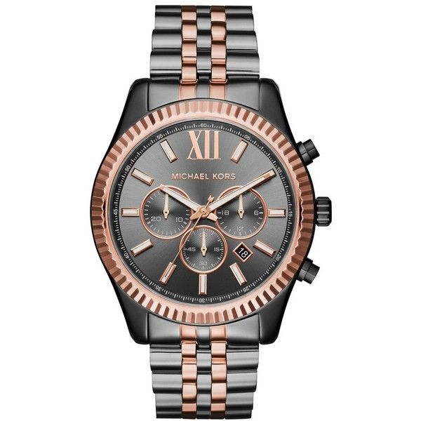 Men's Michael Kors 'Lexington' Chronograph Bracelet Watch, 44Mm (9,105 THB) ❤ liked on Polyvore featuring men's fashion, men's jewelry, men's watches, mens watches, mens bracelet watch, mens chronograph watches, mens chronograph watch and mens watches jewelry