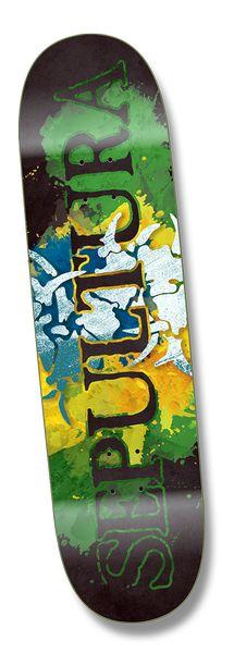 Image of Sepultura Official Skateboard Deck 8.5 popsicle