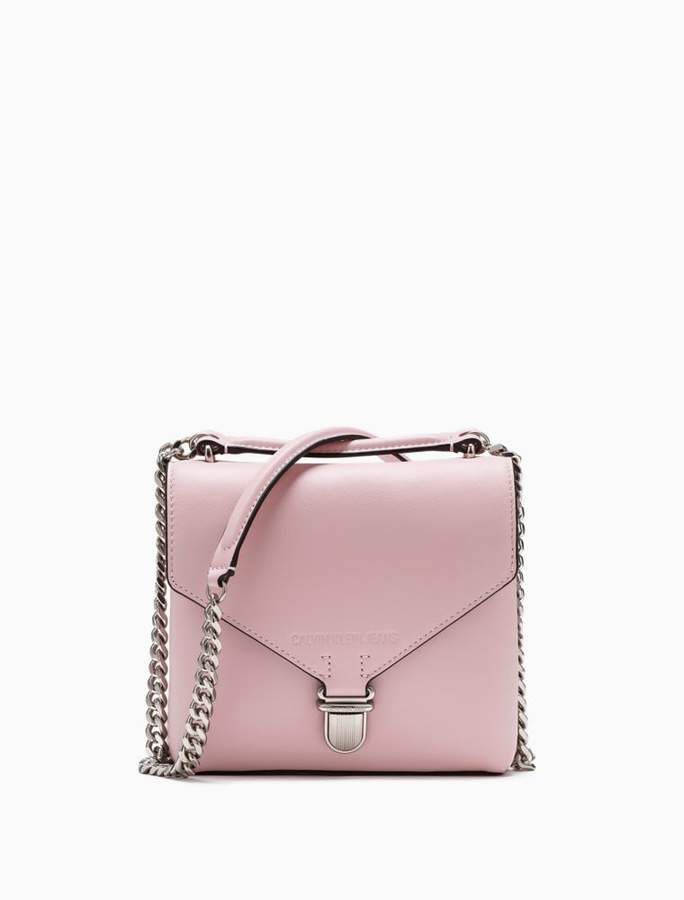 Sculpted Leather Flap Crossbody Bag In 2019