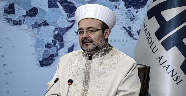 Prof. Dr. Mehmet Görmez, Anadolu Ajansı (AA) Editör Masası'nda